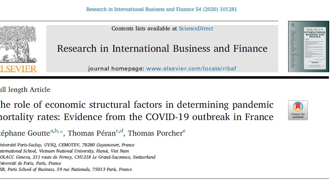 Publication académique : gouvernance et COVID-19